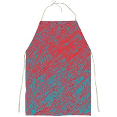 Red and blue pattern Full Print Aprons