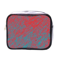 Red and blue pattern Mini Toiletries Bags