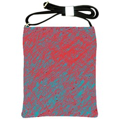 Red and blue pattern Shoulder Sling Bags