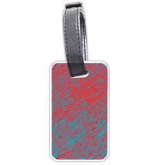 Red and blue pattern Luggage Tags (Two Sides)
