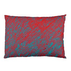 Red and blue pattern Pillow Case (Two Sides)
