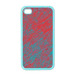Red and blue pattern Apple iPhone 4 Case (Color)