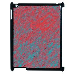 Red and blue pattern Apple iPad 2 Case (Black)