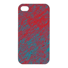 Red and blue pattern Apple iPhone 4/4S Hardshell Case