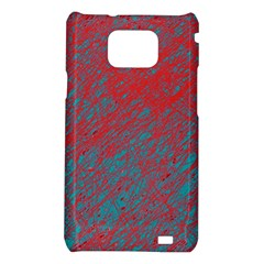 Red and blue pattern Samsung Galaxy S2 i9100 Hardshell Case