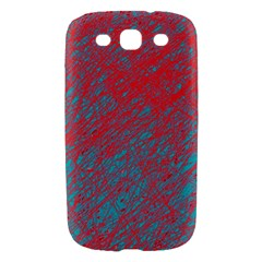 Red and blue pattern Samsung Galaxy S III Hardshell Case