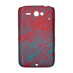 Red and blue pattern HTC ChaCha / HTC Status Hardshell Case