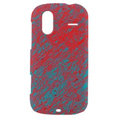 Red and blue pattern HTC Amaze 4G Hardshell Case