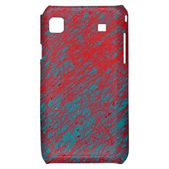 Red and blue pattern Samsung Galaxy S i9000 Hardshell Case