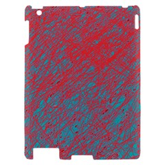 Red and blue pattern Apple iPad 2 Hardshell Case