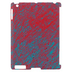 Red and blue pattern Apple iPad 2 Hardshell Case (Compatible with Smart Cover)