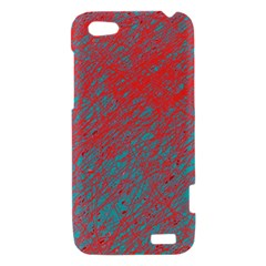 Red and blue pattern HTC One V Hardshell Case