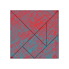 Red and blue pattern Acrylic Tangram Puzzle (4  x 4 )
