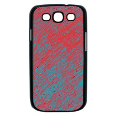 Red and blue pattern Samsung Galaxy S III Case (Black)