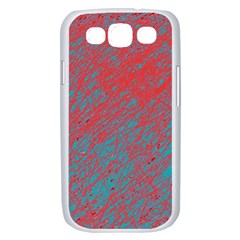 Red and blue pattern Samsung Galaxy S III Case (White)