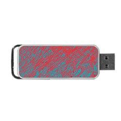 Red and blue pattern Portable USB Flash (One Side)