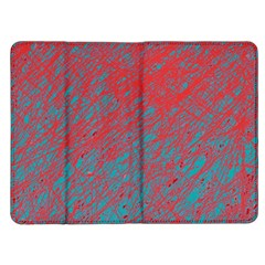 Red and blue pattern Kindle Fire (1st Gen) Flip Case