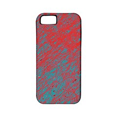 Red and blue pattern Apple iPhone 5 Classic Hardshell Case (PC+Silicone)