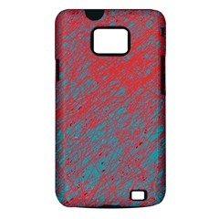 Red and blue pattern Samsung Galaxy S II i9100 Hardshell Case (PC+Silicone)