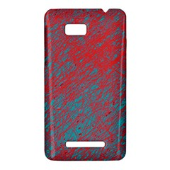 Red and blue pattern HTC One SU T528W Hardshell Case
