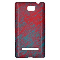 Red and blue pattern HTC 8S Hardshell Case