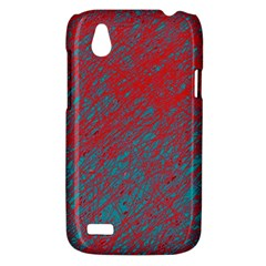 Red and blue pattern HTC Desire V (T328W) Hardshell Case