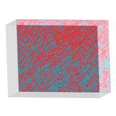 Red and blue pattern 5 x 7  Acrylic Photo Blocks