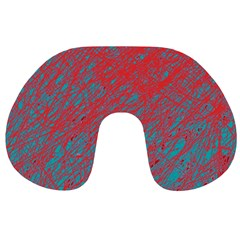 Red and blue pattern Travel Neck Pillows