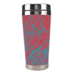 Red and blue pattern Stainless Steel Travel Tumblers