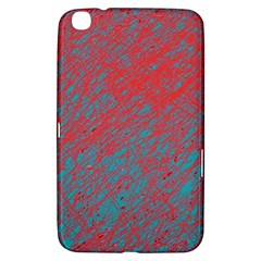 Red and blue pattern Samsung Galaxy Tab 3 (8 ) T3100 Hardshell Case