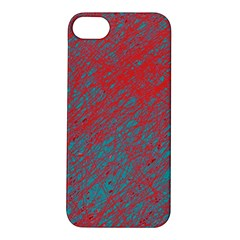 Red and blue pattern Apple iPhone 5S/ SE Hardshell Case
