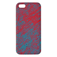 Red and blue pattern iPhone 5S/ SE Premium Hardshell Case