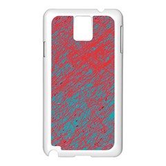Red and blue pattern Samsung Galaxy Note 3 N9005 Case (White)