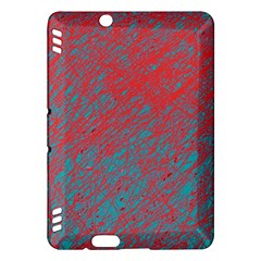 Red and blue pattern Kindle Fire HDX Hardshell Case