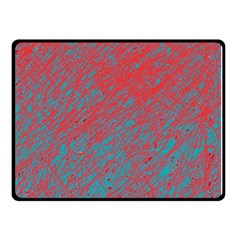 Red and blue pattern Double Sided Fleece Blanket (Small)
