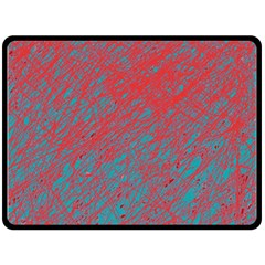 Red and blue pattern Double Sided Fleece Blanket (Large)