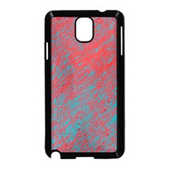 Red and blue pattern Samsung Galaxy Note 3 Neo Hardshell Case (Black)