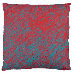 Red and blue pattern Large Flano Cushion Case (One Side)