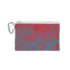 Red and blue pattern Canvas Cosmetic Bag (S)