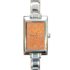 Orange pattern Rectangle Italian Charm Watch