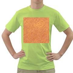 Orange pattern Green T-Shirt