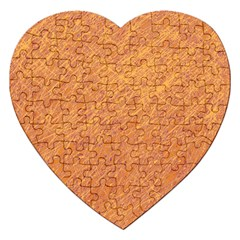 Orange pattern Jigsaw Puzzle (Heart)