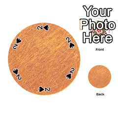 Orange Pattern Playing Cards 54 (round)