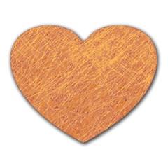 Orange pattern Heart Mousepads
