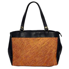 Orange pattern Office Handbags