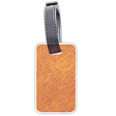 Orange pattern Luggage Tags (Two Sides)