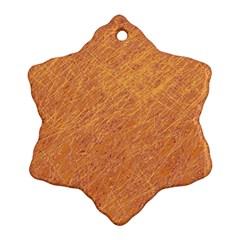 Orange pattern Ornament (Snowflake)