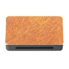Orange pattern Memory Card Reader with CF