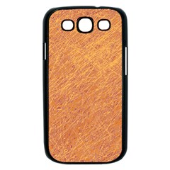Orange pattern Samsung Galaxy S III Case (Black)