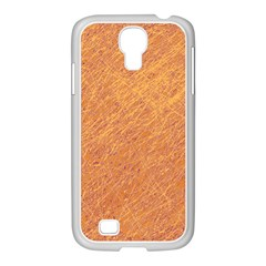 Orange pattern Samsung GALAXY S4 I9500/ I9505 Case (White)